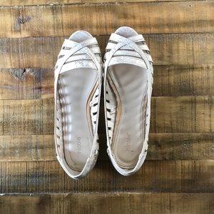 Sparkly snakeskin dressy sandals